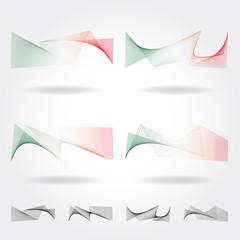 Bandiera italiana costruita con linee rette su fondo bianco