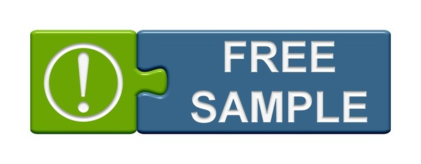 Puzzle Button grün blau: Free Sample