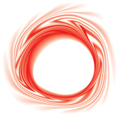 Vector swirling red backdrop with space for text