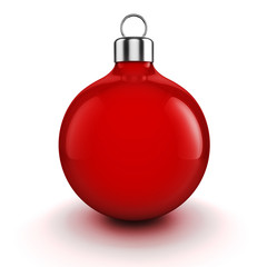3d Christmas balls ornaments on white background