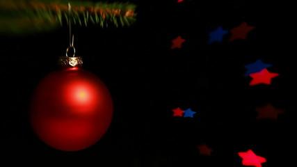 Christmas decoration hanging on the christmas tree