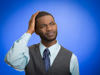 Confused man has shot term memory loss trying to remember