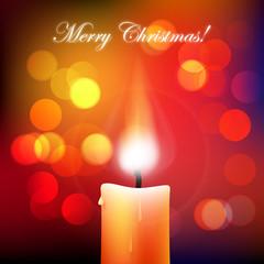 """świeczka """"merry christmas"""" wektor"""