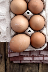 Farm Fresh Brown Chicken Hen Eggs