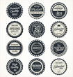 Quality retro vintage badges collection