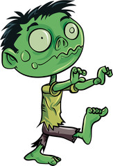 Cartoon cute zombie