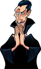 Cartoon smiling Dracula