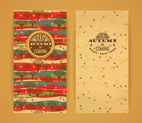 Autumn background with Typography