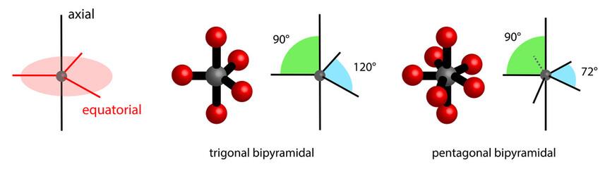 angles in bipyramidal bondings