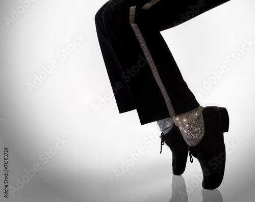Fotobehang Dans dancer in action with sparks effect