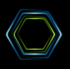 Bright abstract hexagon logo background