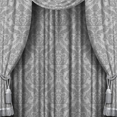 Gray curtain