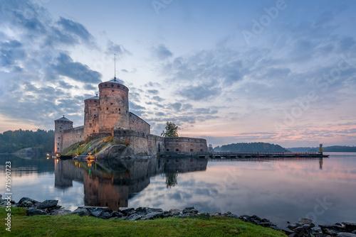 Fotobehang Vestingwerk Olavinlinna fortress