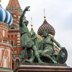Moscow, Russia. A monument to national hero