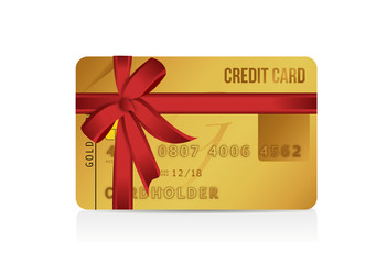 credit card gift illustration design