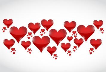 love hearts illustration design