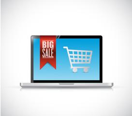 computer big sale banner illustration