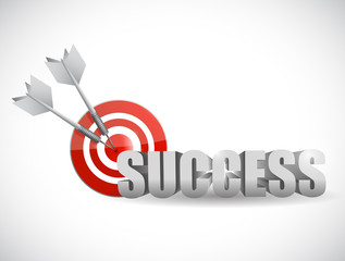 success bulls eye target illustration