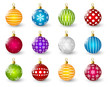Set of color Christmas balls