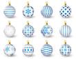 Set of glossy Christmas balls