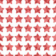 Seamless pattern of pink stars