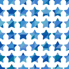 Seamless pattern of blue stars
