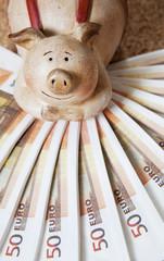 cochon-tirelire gain d'argent