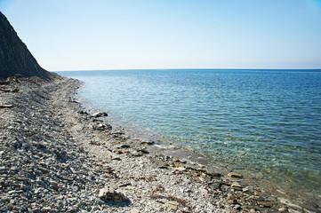 Beautiful shore on the Black Sea coast