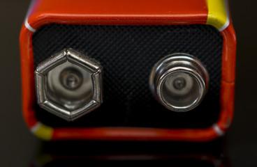 Close up Battery details