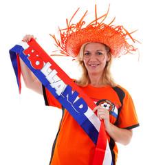 Dutch female soccer suporter