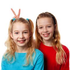 Two girls heaving fun