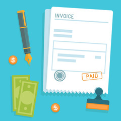 Vector invoice concept in flat style