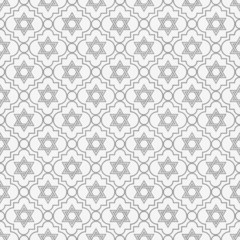 Gray and White Star of David Repeat Pattern Background