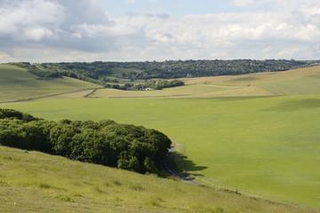 South Downs countryside near Eastbourne. England