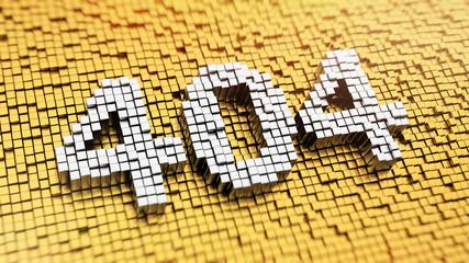 Pixelated 404