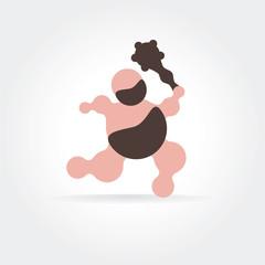 Abstract early men vector icon concept. Good as logotype