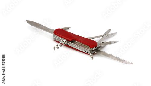 Leinwandbild Motiv Messer ausgeklappt
