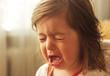 Leinwanddruck Bild - cute little kid is crying