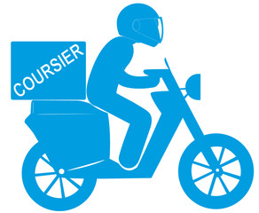 coursier express sur scooter