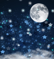 christmas stars and moon    background
