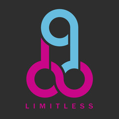 Penis- Limitless symbol icon, vector