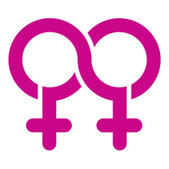 Double female Limitless symbol, vector