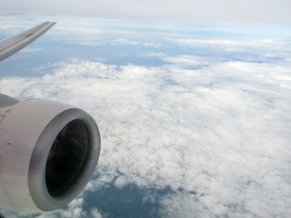 Over cloud on aircraft