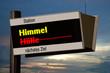 canvas print picture - Anzeigetafel 4b - Himmel