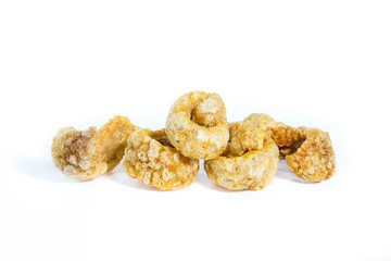 Pork cracklings isolated