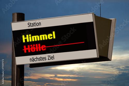 canvas print picture Anzeigetafel 4b - Himmel
