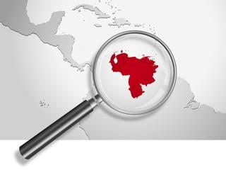 Landkarte *** Südamerika Venezuela