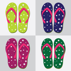 beach sandals. vector illustration