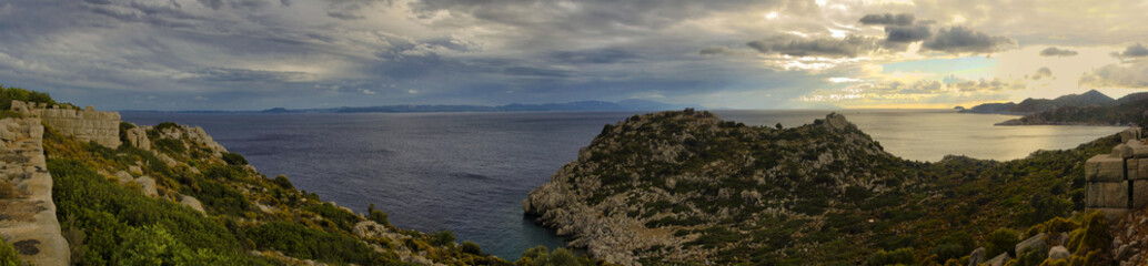 Sea Panoramic View  from fortress
