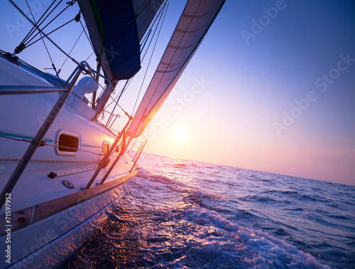 canvas print picture Sail boat